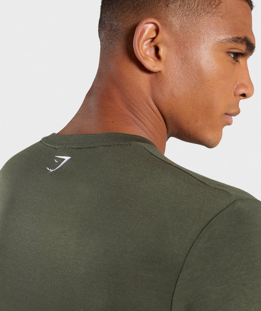 Gymshark Shadow Long Sleeve T-Shirt - Dark Green 6