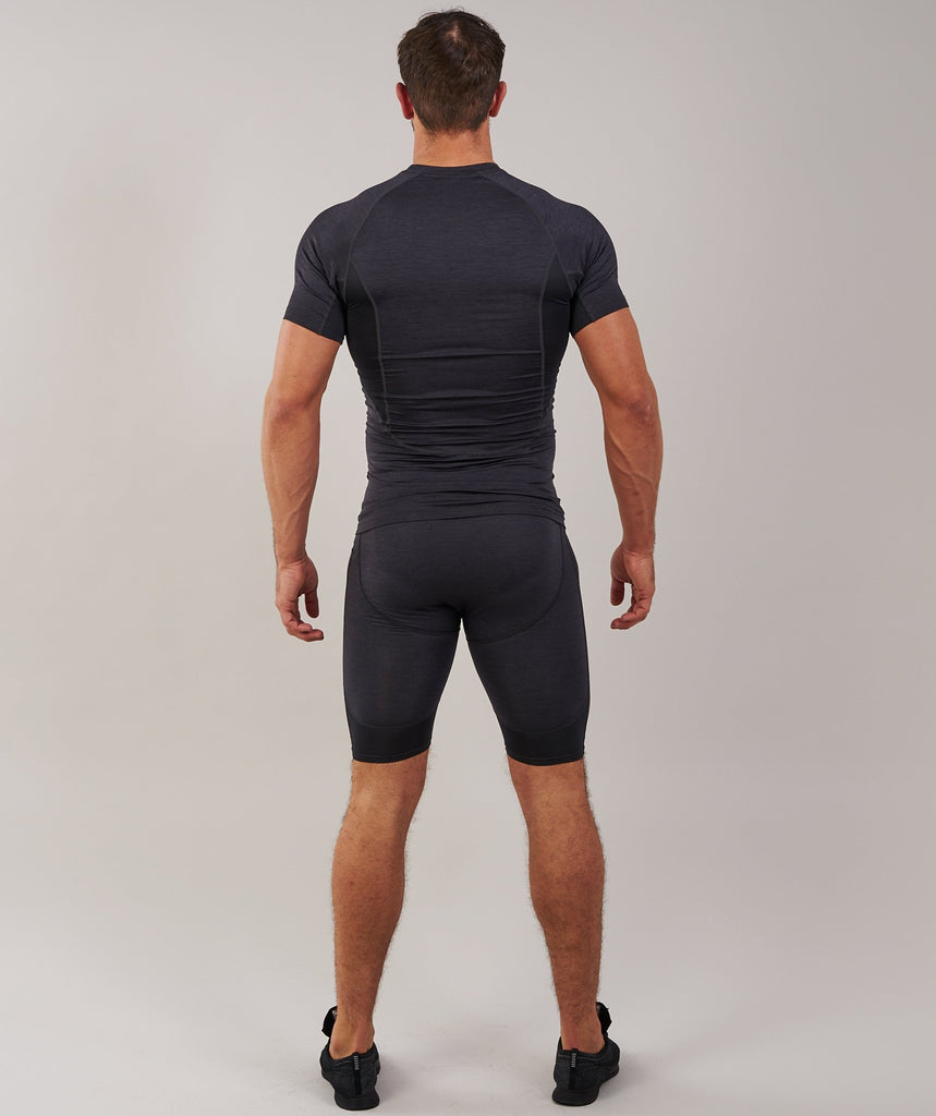 Gymshark Element Baselayer Shorts - Black Marl