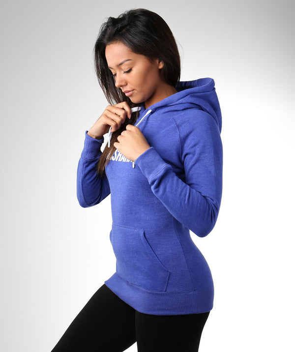 Gymshark Signal Hooded Pullover - Bright Blue/White