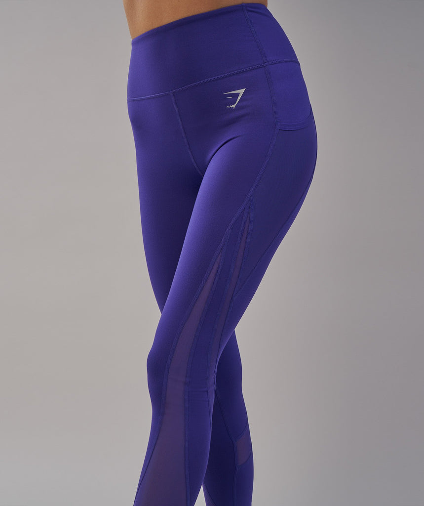 Gymshark Sleek Sculpture Leggings 2.0 - Indigo 2