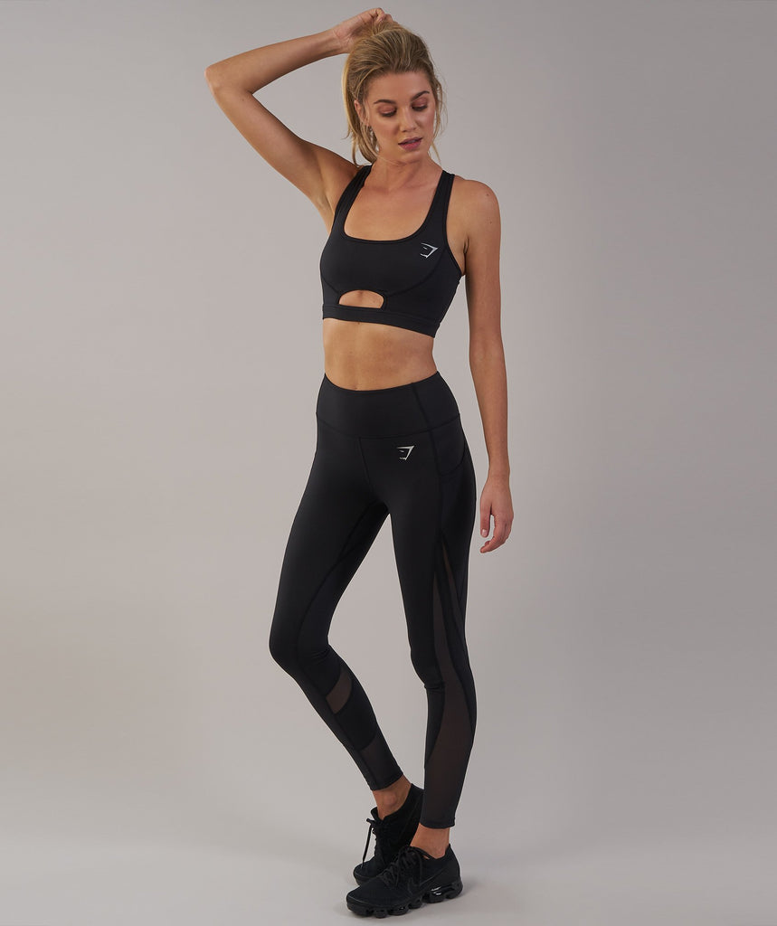 Gymshark Sleek Sculpture Sports Bra - Black 1