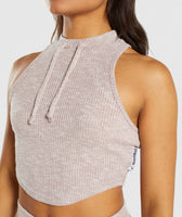 Gymshark Slounge Crop Top - Taupe Marl 11