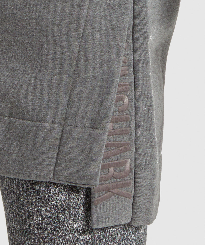 Gymshark Slounge Ribbed Pullover -Charcoal Marl 6