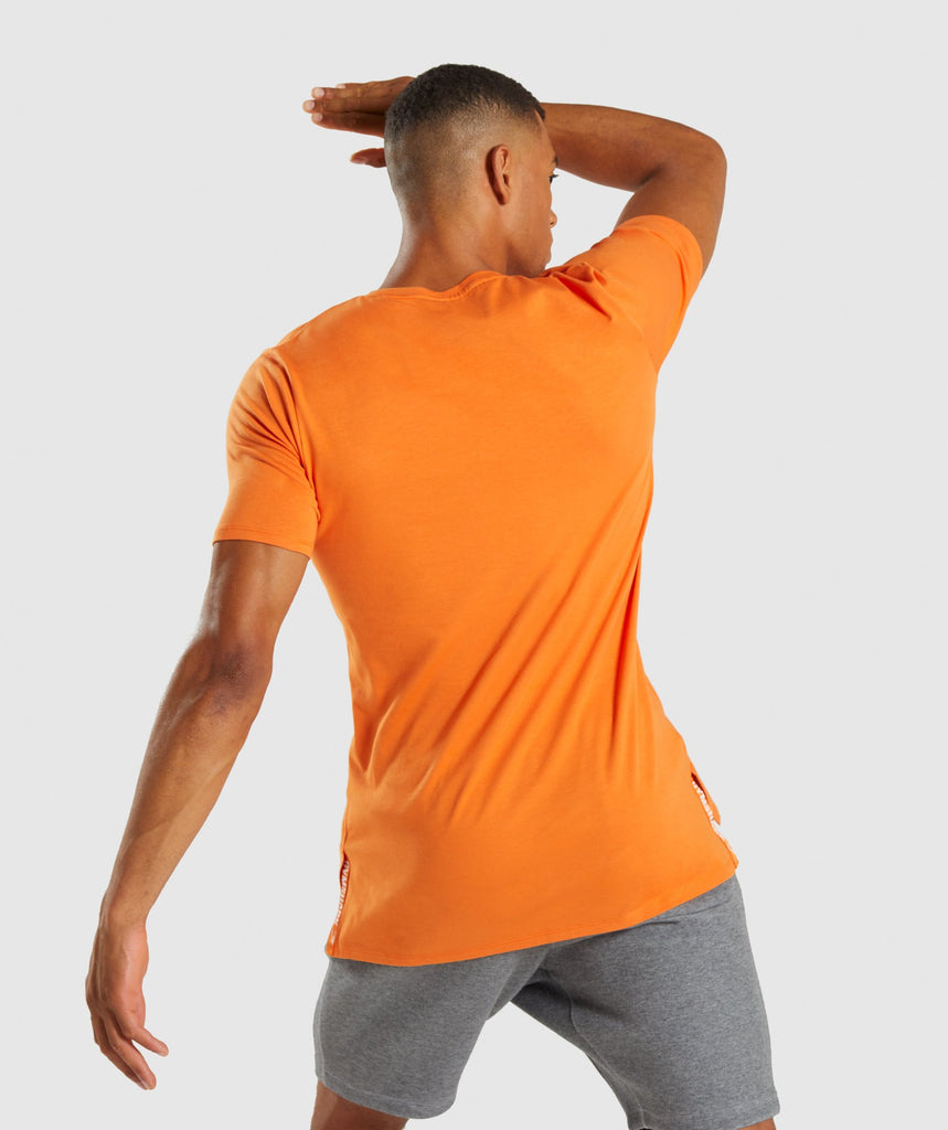 Gymshark Central T-Shirt - Sunset Orange 2