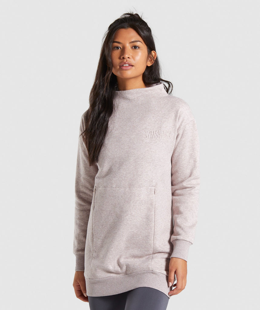 Gymshark So Soft Sweater - Taupe Marl 4