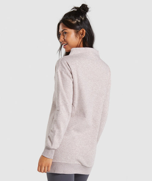 Gymshark So Soft Sweater - Taupe Marl 1