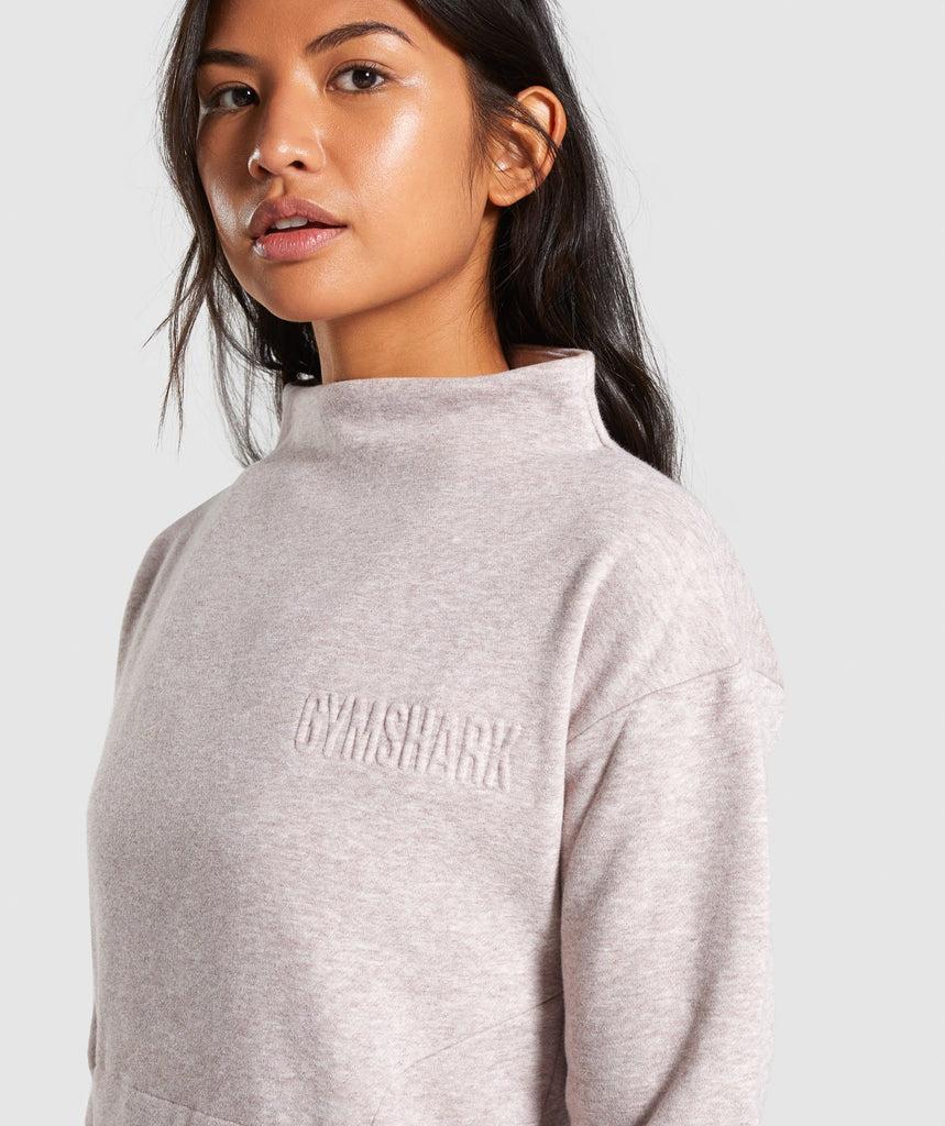 Gymshark So Soft Sweater - Taupe Marl 6