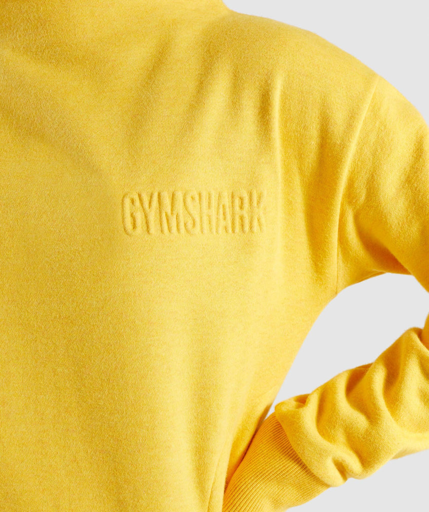 Gymshark So Soft Sweater - Citrus Yellow Marl 5