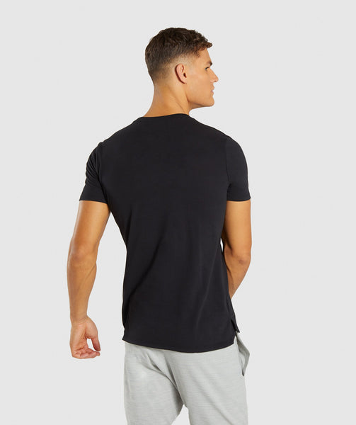 Gymshark Stamped Logo T-Shirt - Black 1