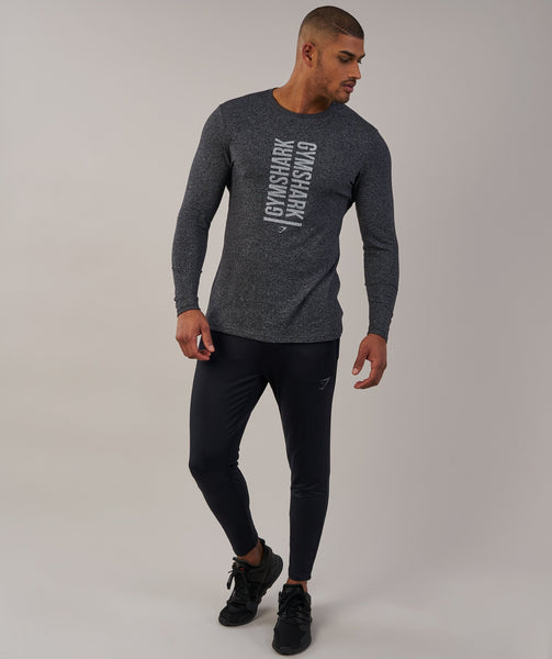 Gymshark Statement Long Sleeve T-Shirt - Black Marl 3
