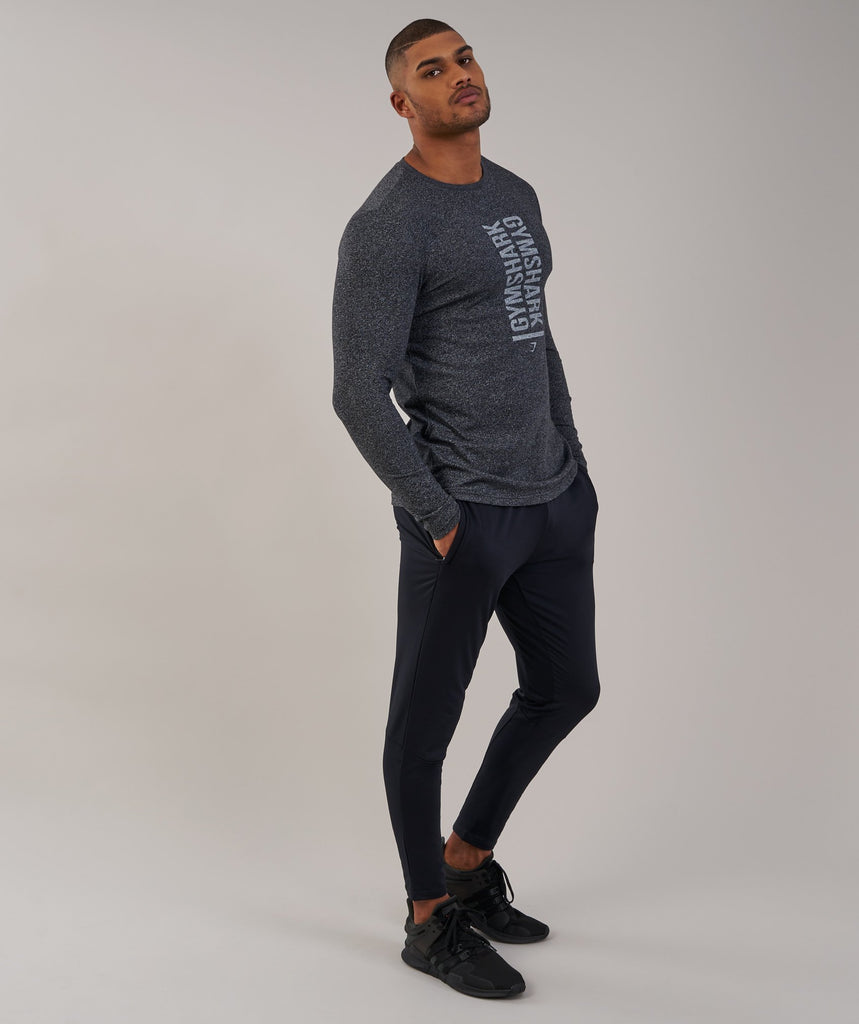 Gymshark Statement Long Sleeve T-Shirt - Black Marl 6