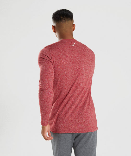 Gymshark Statement Long Sleeve T-Shirt - Red Marl 1