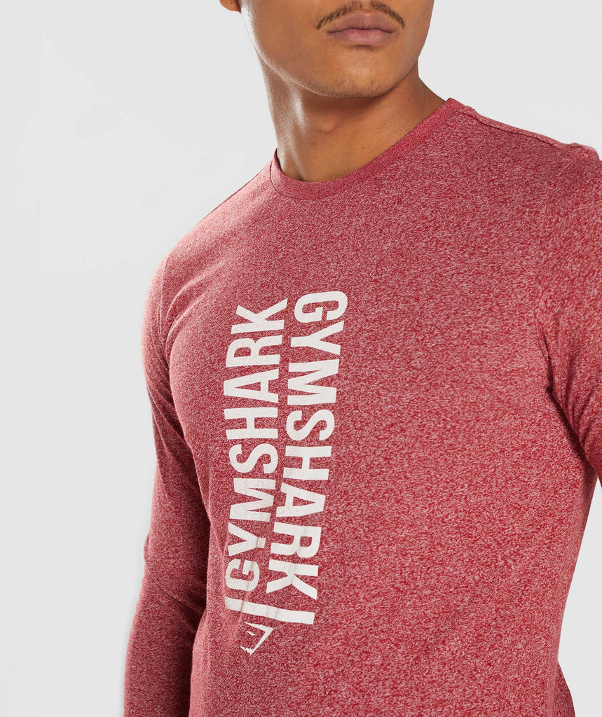 Gymshark Statement Long Sleeve T-Shirt - Red Marl 6