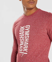 Gymshark Statement Long Sleeve T-Shirt - Red Marl 12