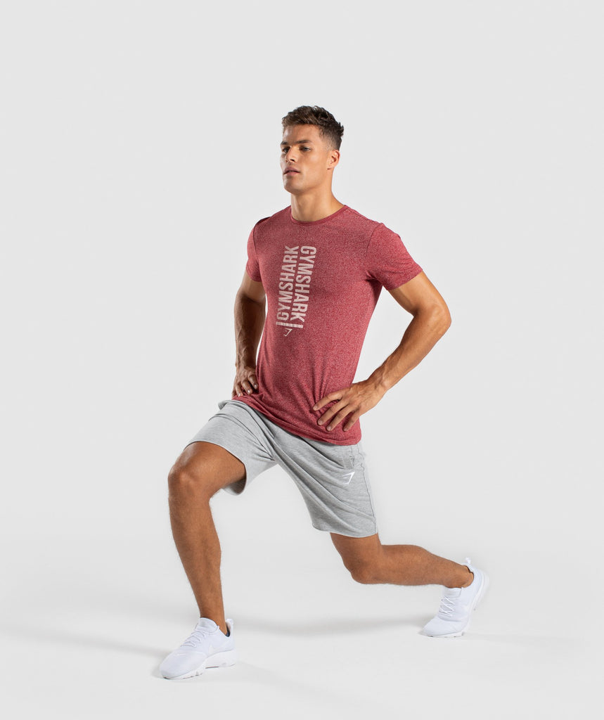 Gymshark Statement T-Shirt - Red Marl 5