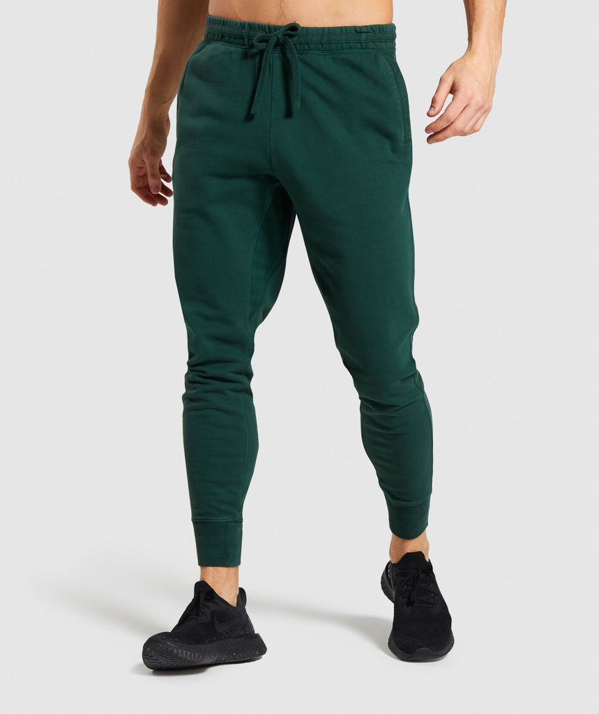 Gymshark Track Joggers - Green 1
