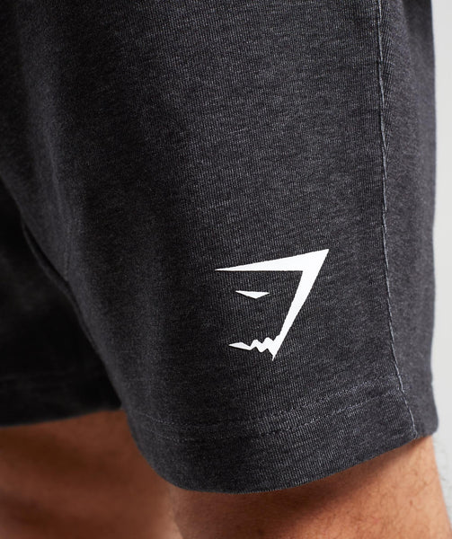 Gymshark Take Over Shorts - Black Marl 4
