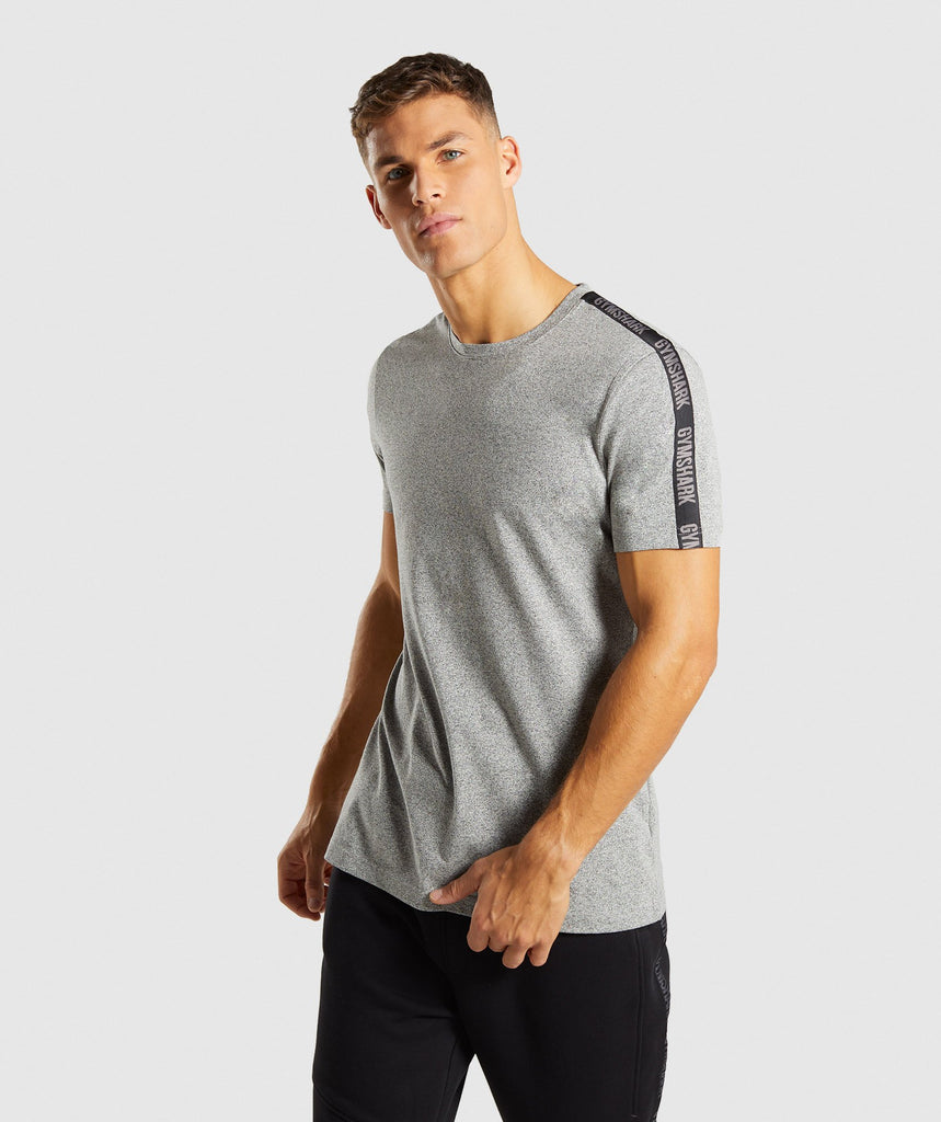 Gymshark Taped T-Shirt - Grey Marl 1