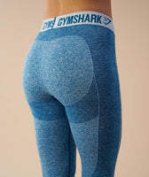 Gymshark Flex Cropped Leggings - Deep Teal/Ice Blue 12