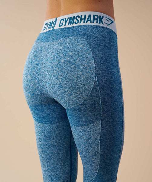 Gymshark Flex Cropped Leggings - Deep Teal/Ice Blue 4