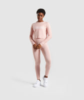 Gymshark Time Out Knit Joggers - Blush Nude 10