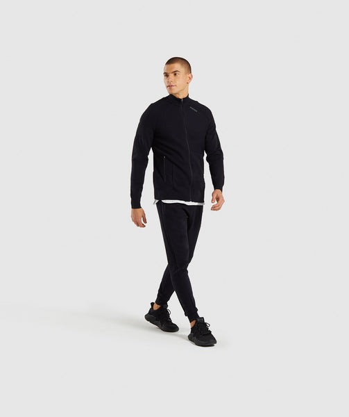 Gymshark True Knit Zip Up - Black 3