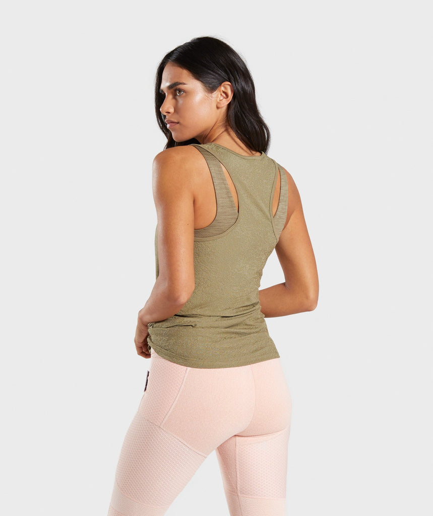 Gymshark True Texture Vest - Washed Khaki 2