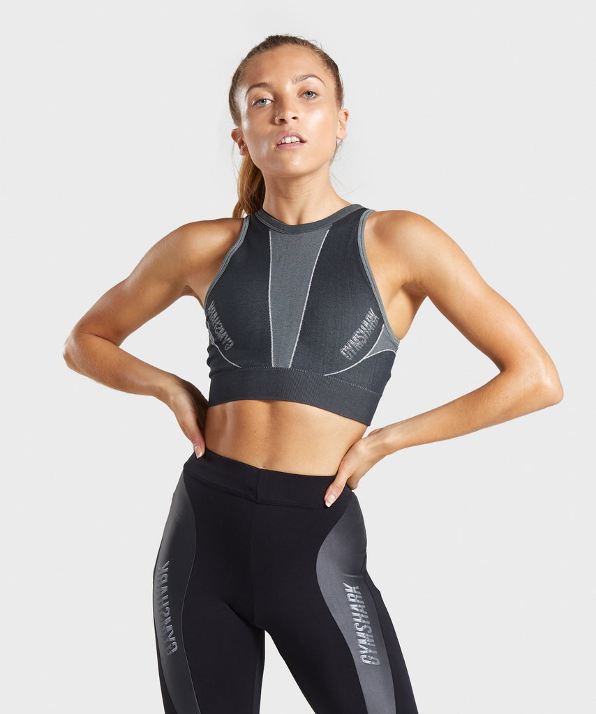 Gymshark Turbo Seamless Sports Bra - Black 1
