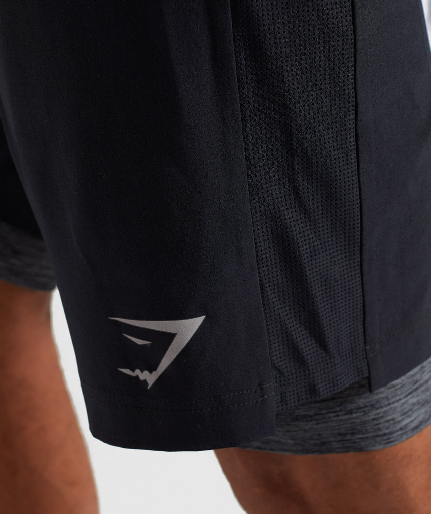 Gymshark 2 In 1 Training Shorts - Black 6