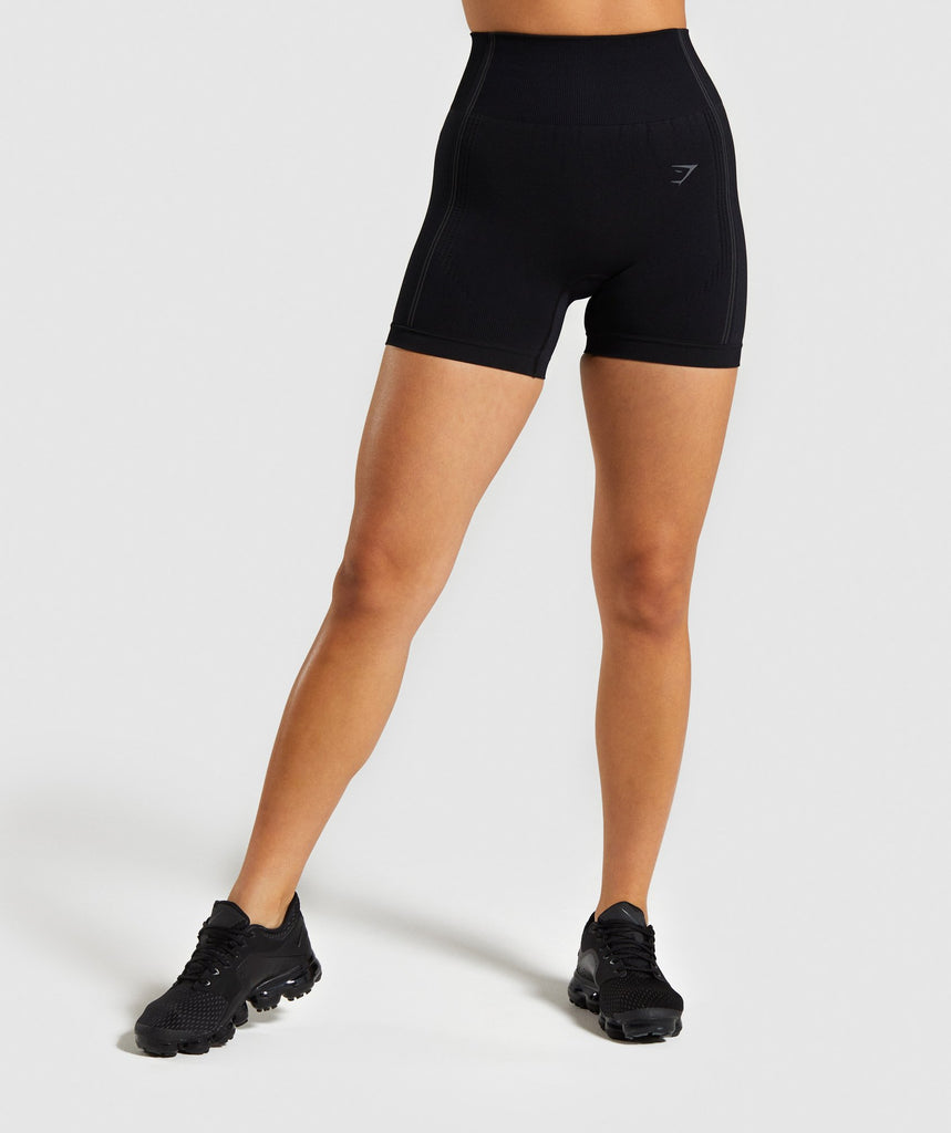 Gymshark Ultra Seamless Shorts - Black 1