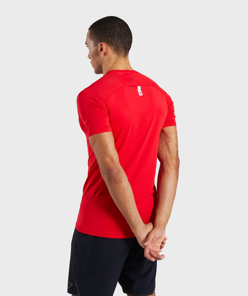 Gymshark Veer T-Shirt - Red 4