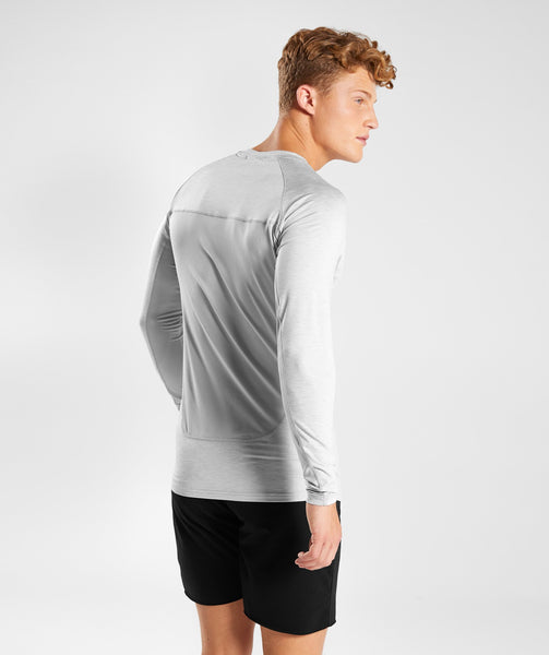 Gymshark Vertex Long Sleeve T-Shirt - Light Grey 1