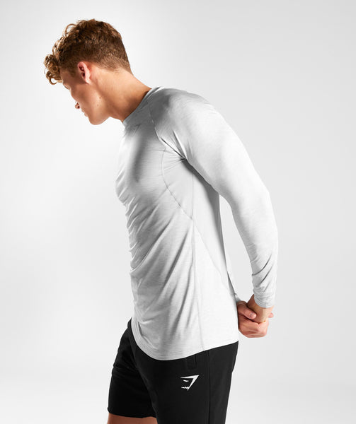 Gymshark Vertex Long Sleeve T-Shirt - Light Grey 2