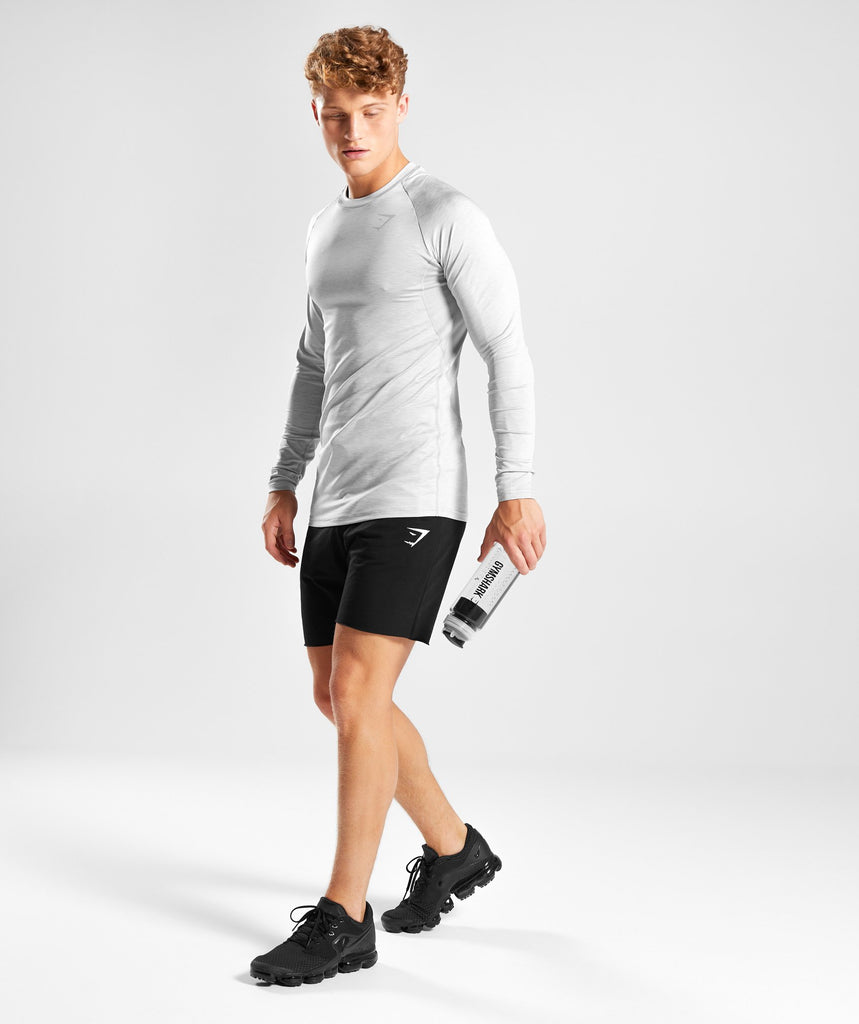Gymshark Vertex Long Sleeve T-Shirt - Light Grey 5