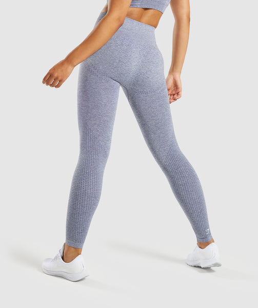 Gymshark Vital Seamless Leggings - Steel Blue Marl 1