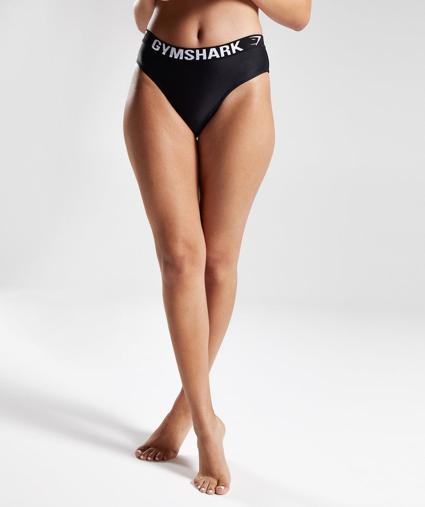 Gymshark Workout Bikini Bottoms - Black 1