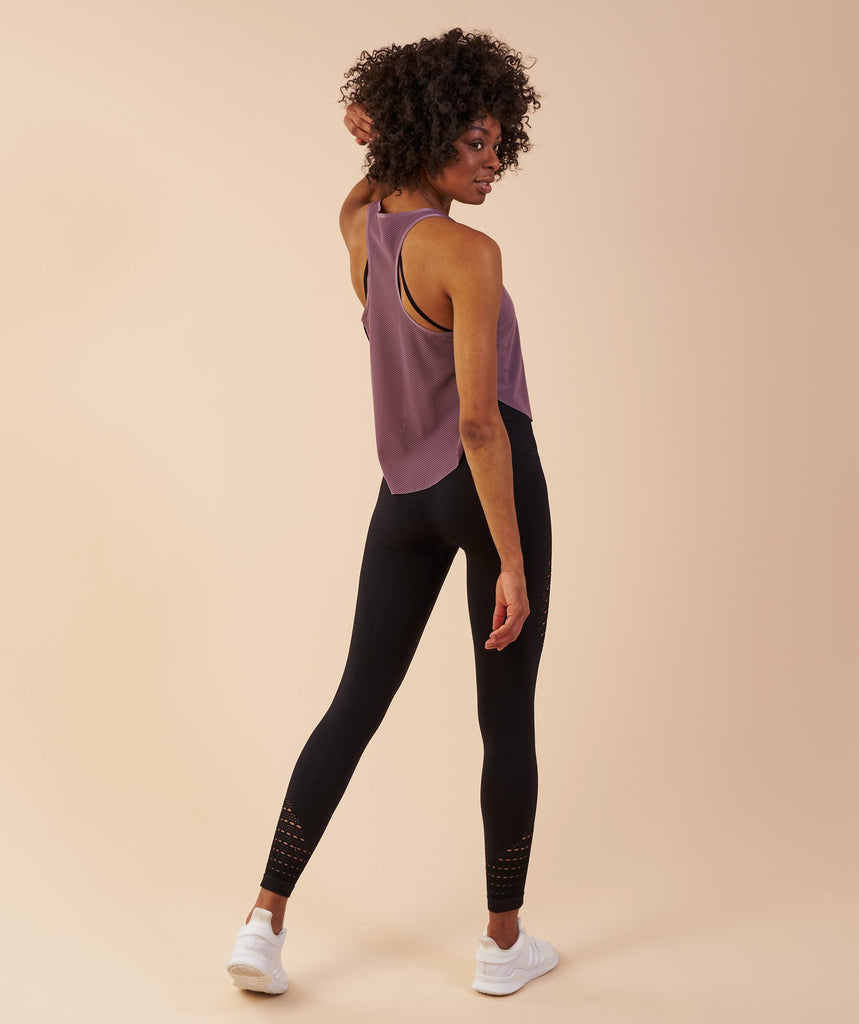 Gymshark Aptitude Cropped Vest - Purple Wash