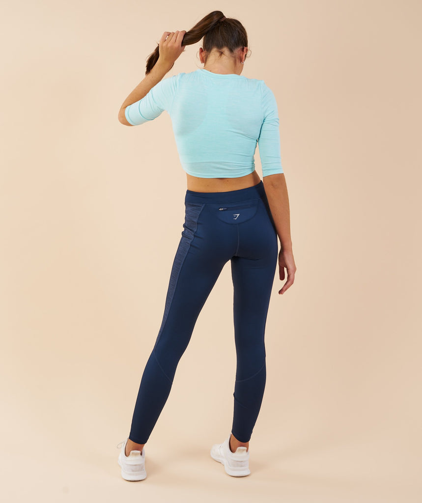 Gymshark Ballet Crop Top - Pale Turquoise Marl