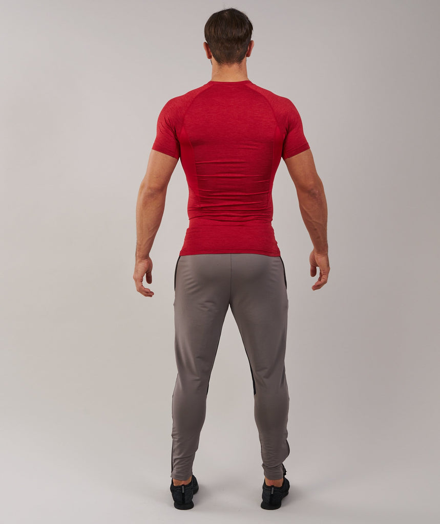 Gymshark Element Baselayer Short Sleeve Top - Deep Red