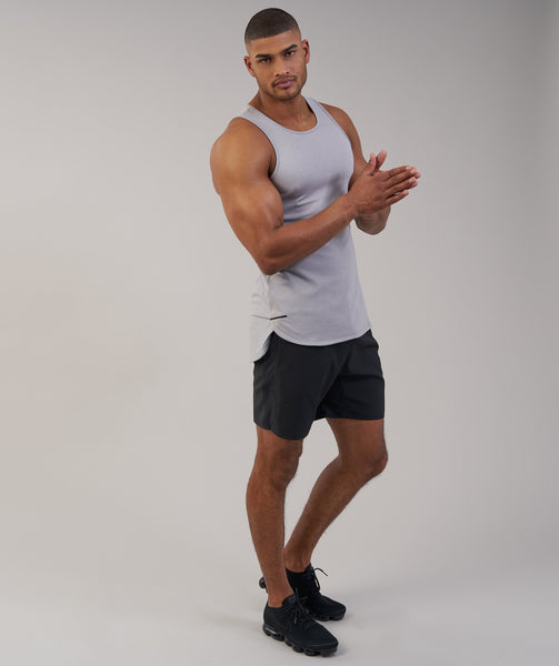 Gymshark Breathe Tank - Light Grey Marl 4