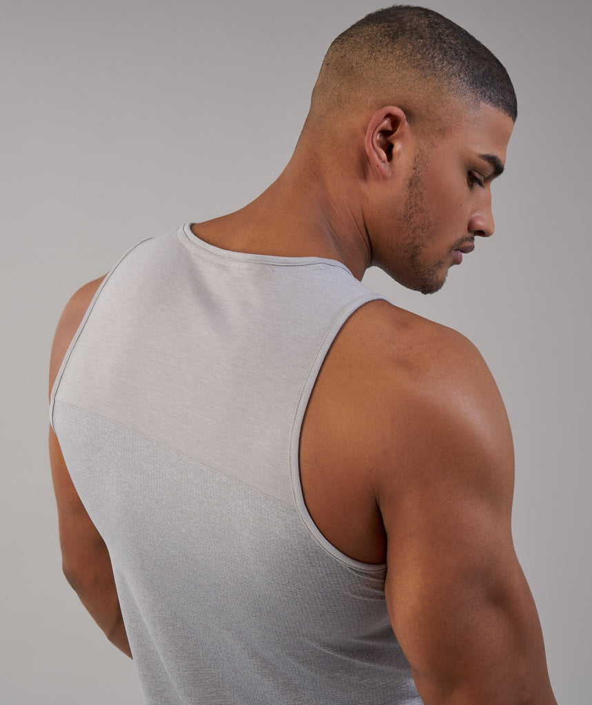 Gymshark Breathe Tank - Light Grey Marl 5