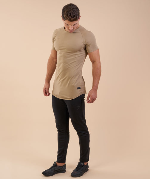 Gymshark Eaze T-Shirt - Coffee
