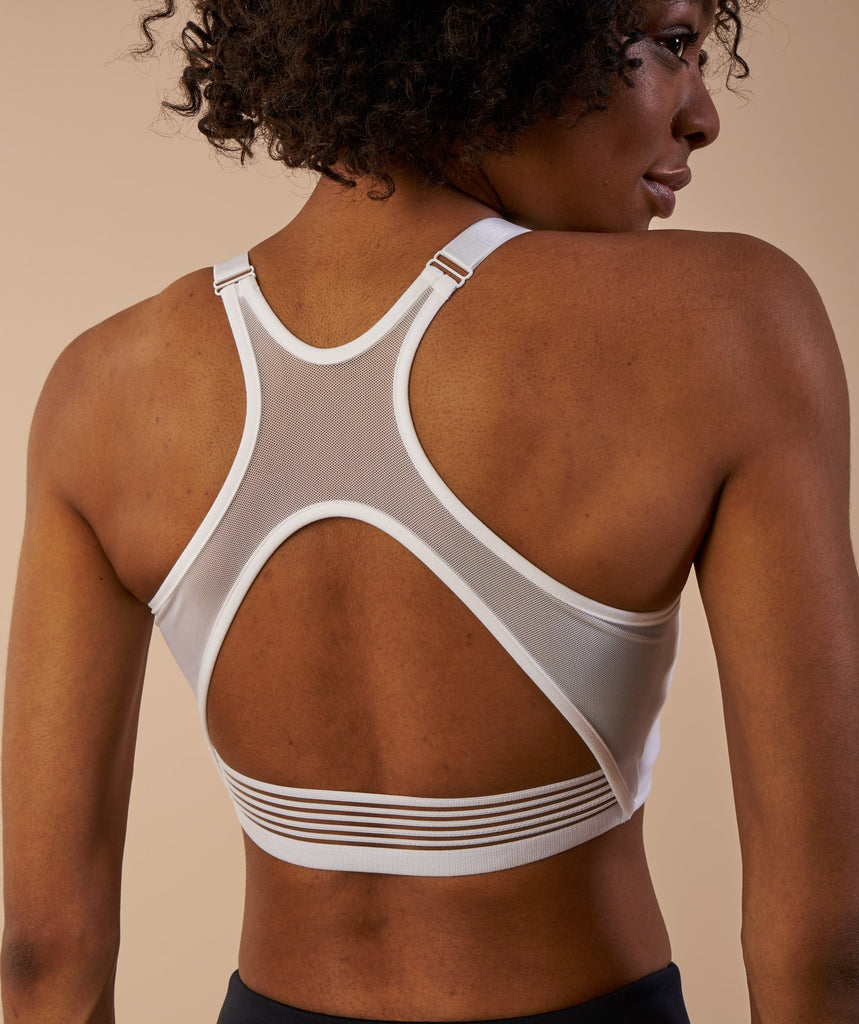 Gymshark Elite Sports Bra - White 6