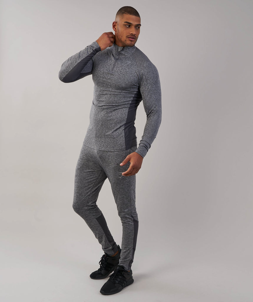 Gymshark Fallout 1/4 Zip Pullover - Charcoal Marl
