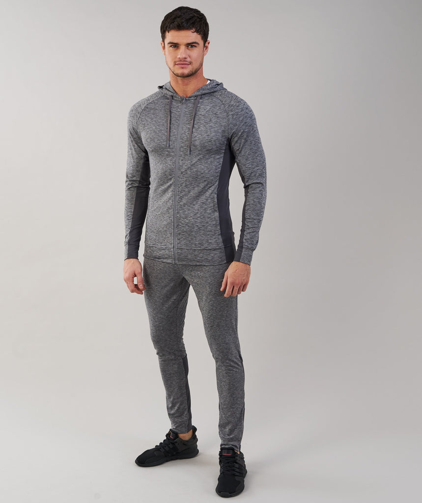 Gymshark Fallout Zip Hoodie - Charcoal Marl