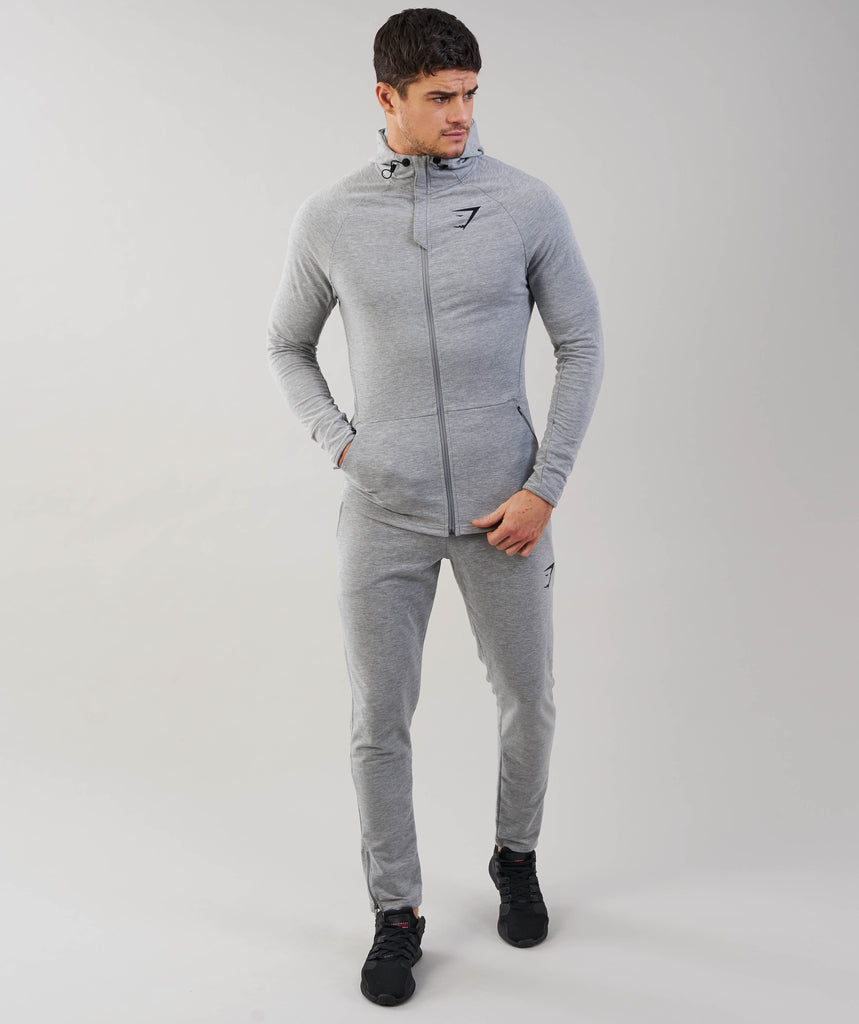 Gymshark Fit Hooded Top - Light Grey Marl 1