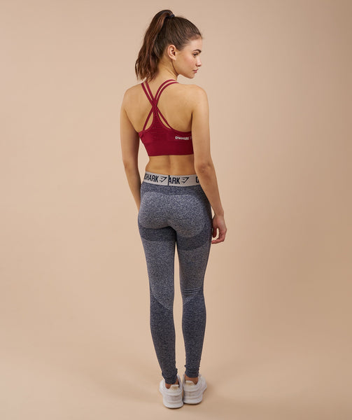 Gymshark Flex Leggings - Sapphire Blue Marl/Light Grey 1