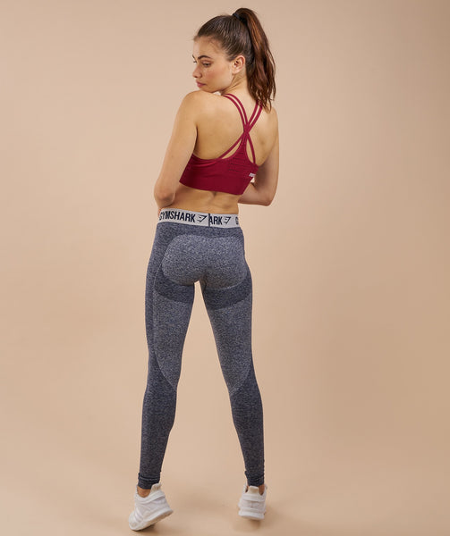 Gymshark Flex Leggings - Sapphire Blue Marl/Light Grey 3