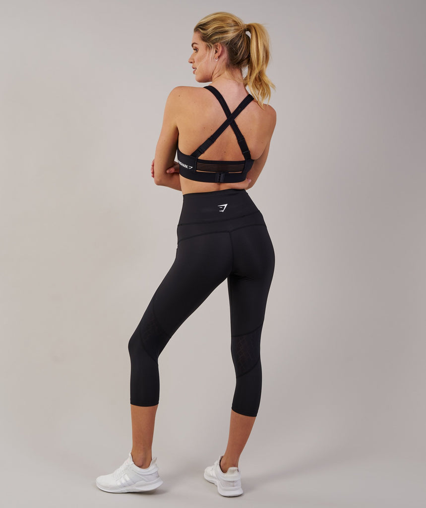 Gymshark Fusion Cropped Leggings 2.0 - Black