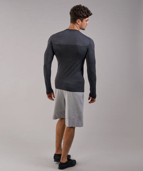 Gymshark Phantom Seamless Long Sleeve T-Shirt - Black Marl 4